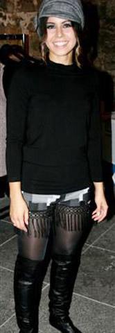 65er Mode elastische Shorts mit Fransen schwarzer Rolli