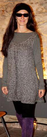Kleid aus Strick mit Longsleeves Shirt in grau (2)