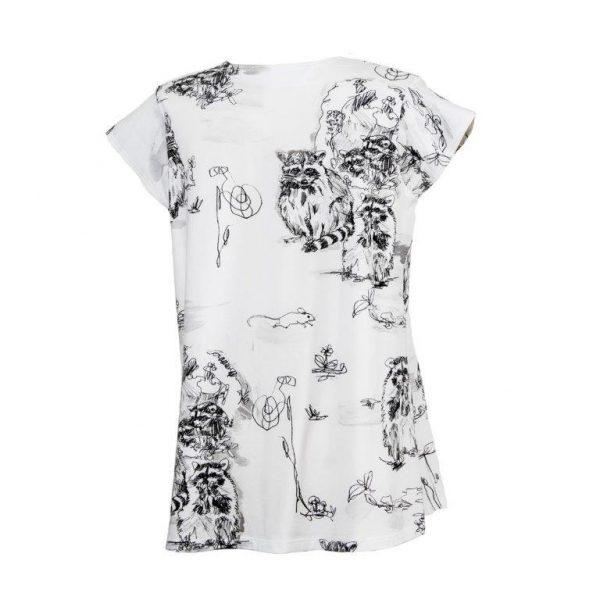 GaliGreenLabel Jerseyshirt Rückansicht Raccons aus Öko-Baumwolle-Elasthan