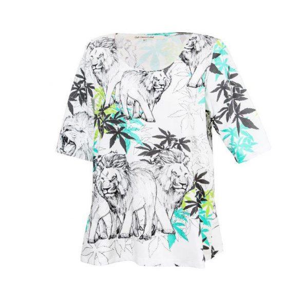 GaliGreenLabel Jerseyshirt Lion-Family aus Öko-Baumwolle-Elasthan