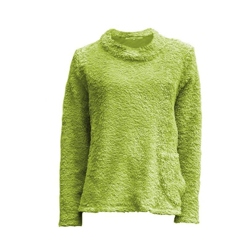 GaliGreenLabel Plüsch Pullover kurz Rundkragen Apfelgrün